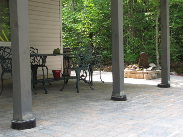 Large interlock patio